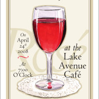 Lake Avenue Café Rosé Wine Tasting invitation