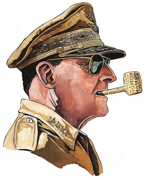 Duluth Trading Co Illustration Of General Douglas Macarthur