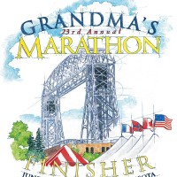 Grandma's Marathon Finisher T-shirt Art