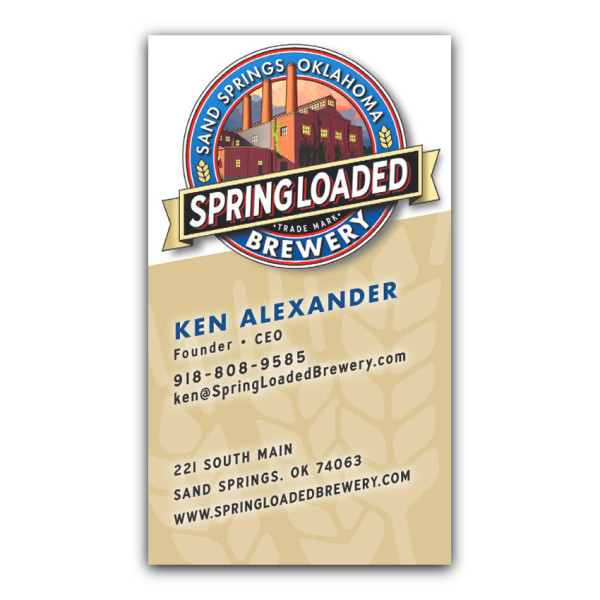 Springloaded brewery micro brewer business card design springloaded brewery categories business cards colourmoves
