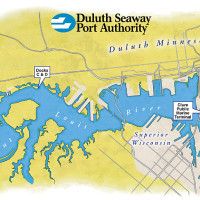 Duluth Seaway Port Authority St. Louis River basin map