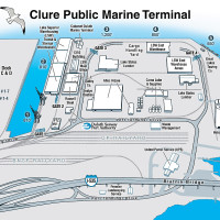 Duluth Seaway Port Authority Clure Public Marine Terminal map