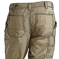 Duluth Trading Company: Ripstop Work Pants, backside