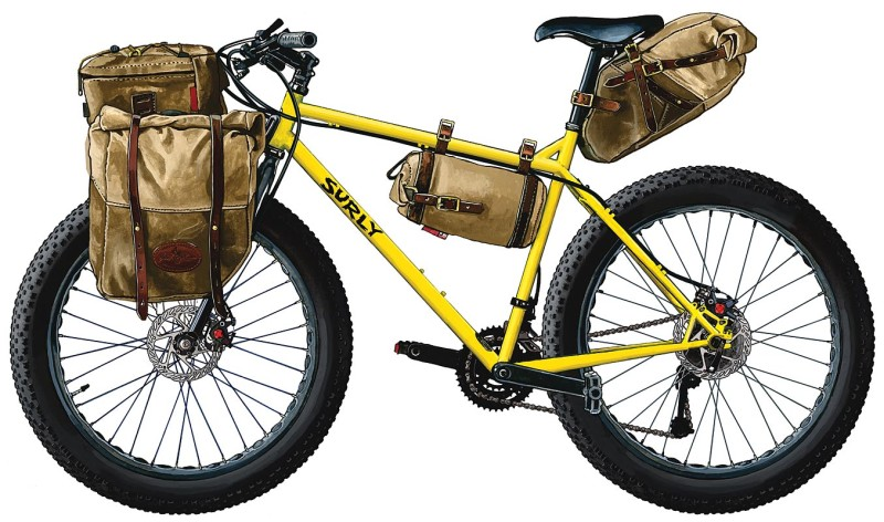Frost River Fat Bike With Luggage