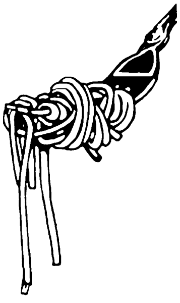 fork with pasta illustration in black and white