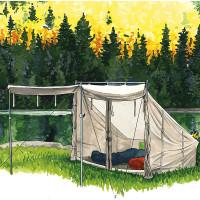"Frost River: ""Tent Scene"""