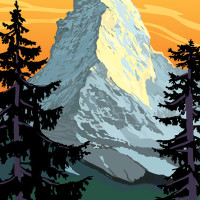 Mountain Postcard: the Matterhorn