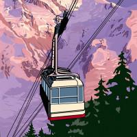 Mountain Postcard: Mont Blanc