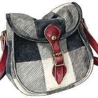 Wool Plaid Shell Bag (Shoulderbag)