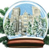 College in a Snow Globe