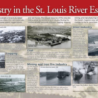 St. Louis River Interpretive Panel: Industry
