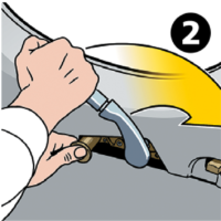 Cirrus Aircraft Safety Card illustration: Opening the Door